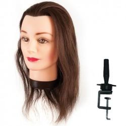Cvičná hlava s přírodními vlasy