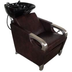 Kadeřnický mycí box CONTE hnědý