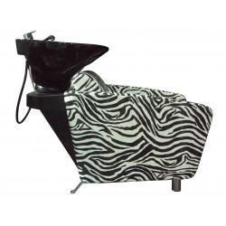 Kadeřnický mycí box Forte zebra
