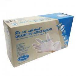 Latexové rukavice Ro.ial bílé 100 ks M