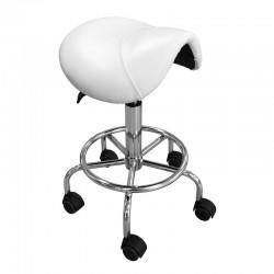 Židle kosmetická ZD-2001 bílá