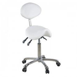 Židle kosmetická SELLA 1025 bílá