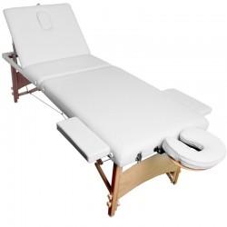 Masážní přenosné lehátko AT-900 bílé