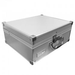 Kadeřnický kufr Eurostil šedý