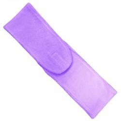 Čelenka kosmetická rozepínací, fialová froté