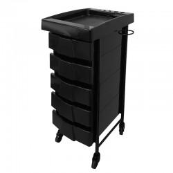 Kadeřnický stolek Deluxe 008 černý