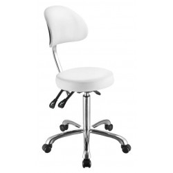 Židle kosmetická RONDA bílá