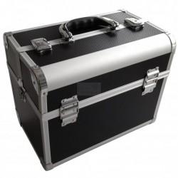 Kadeřnický kufr alu černý